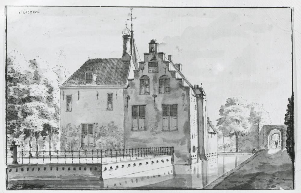 Abtspoel in Warmond. Tekening Abraham de Haen